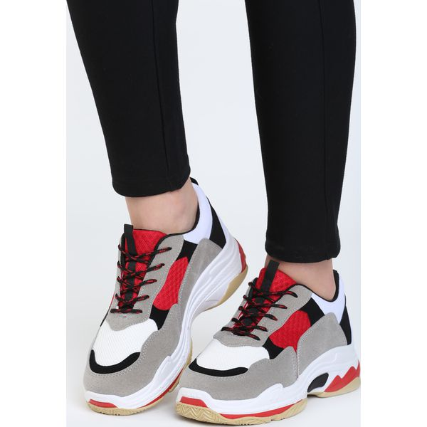 Zaawansowane Biało-Czerwone Buty Sportowe Discord - Obuwie sportowe damskie DR12