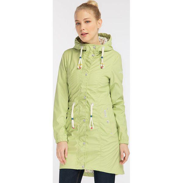 f2d2b2b17f Płaszcz przeciwdeszczowy w kolorze zielonym - Płaszcze damskie marki ...