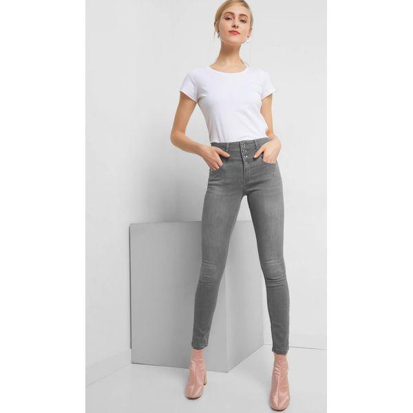 a0655558 Jeansy skinny z wysokim stanem