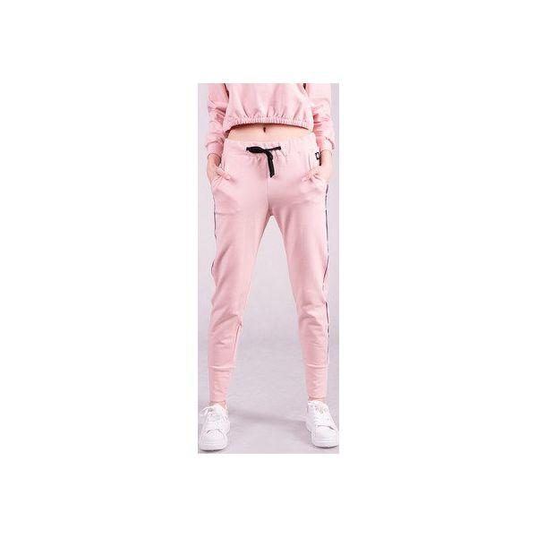 Spodnie dresowe damskie ze ściagaczem RÓŻ
