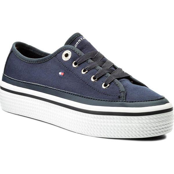 b6c3fd2401872 Tenisówki TOMMY HILFIGER - Corporate Flatform Sneaker FW0FW02456 ...