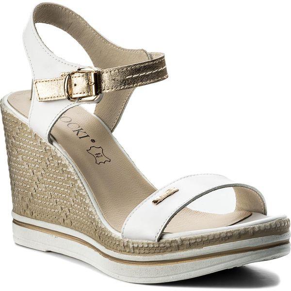 9a279e11526dc Sandały LASOCKI - 9624-01 Biały Złoty - Białe sandały damskie marki ...