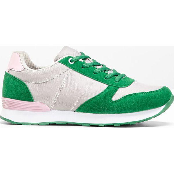 255ed97c502221 Sneakersy bonprix szaro-kryształowy jasnoróżowy - zielony miętowy ...