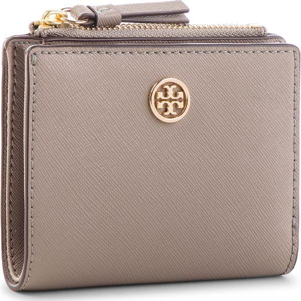 7cb80c830fa90 Mały Portfel Damski TORY BURCH - Robinson Mini Wallet 52703 Gray ...