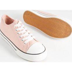 f6b72de7132e2 Trampki sneakersy na koturnie slip on - Trampki i tenisówki damskie ...