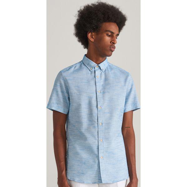 good many fashionable popular brand Bawełniana koszula regular fit - Turkusowy