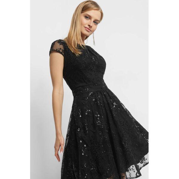 5158ac661c Rozkloszowana sukienka z tiulu - Czarne sukienki damskie marki Orsay ...