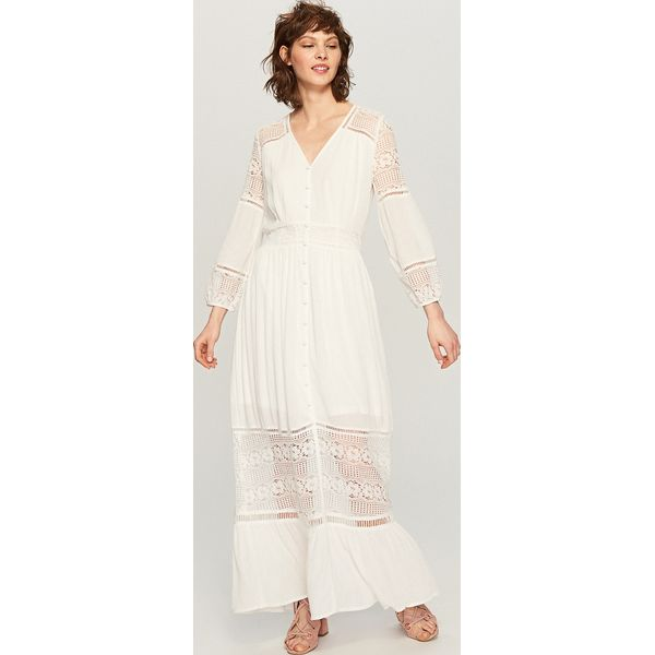 312c270c93 Biała sukienka maxi - Biały - Białe sukienki damskie marki Reserved ...