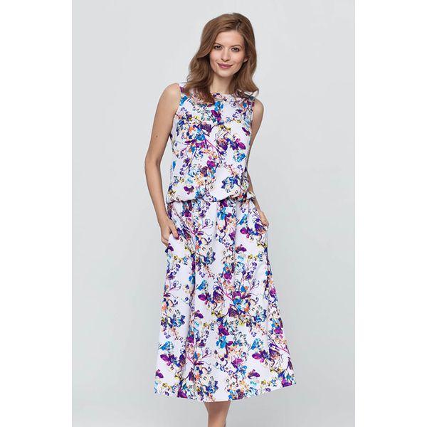 af52a7bb16 Sukienka w kolorze jasnofioletowym ze wzorem - Fioletowe sukienki ...