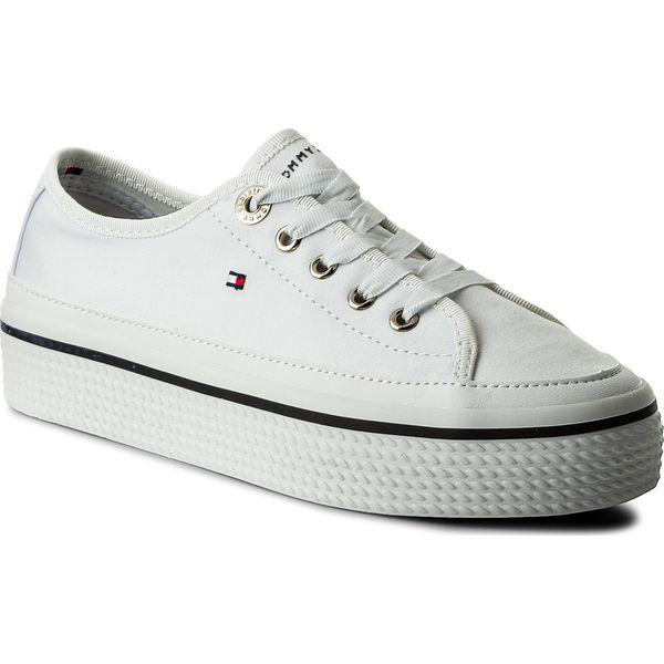 3bbd172cb0d34 Tenisówki TOMMY HILFIGER - Corporate Flatform Sneaker FW0FW02456 ...