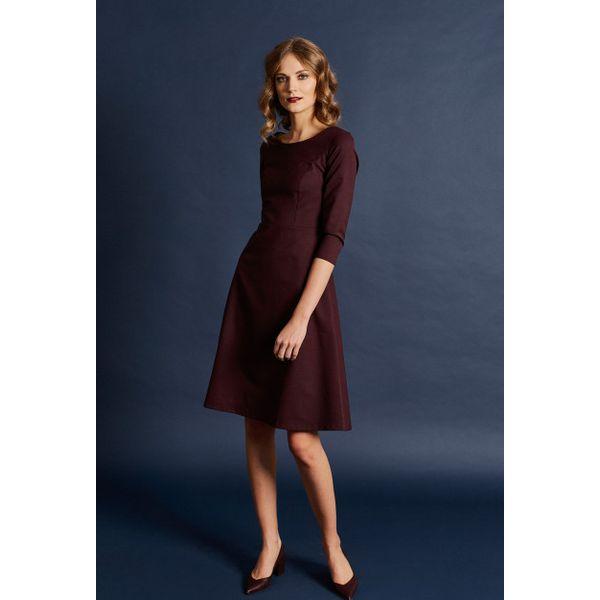 e1d9c892f7 Sukienka Asteria bordowa – wełna Loro Piana 32 bordo - Czerwone ...