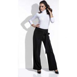 6afc9d1943 spodnie eleganckie - zobacz wybrane produkty. Czarne Spodnie Eleganckie  Szerokie z Wiązaniem na Boku. Spodnie materiałowe damskie marki Molly.pl