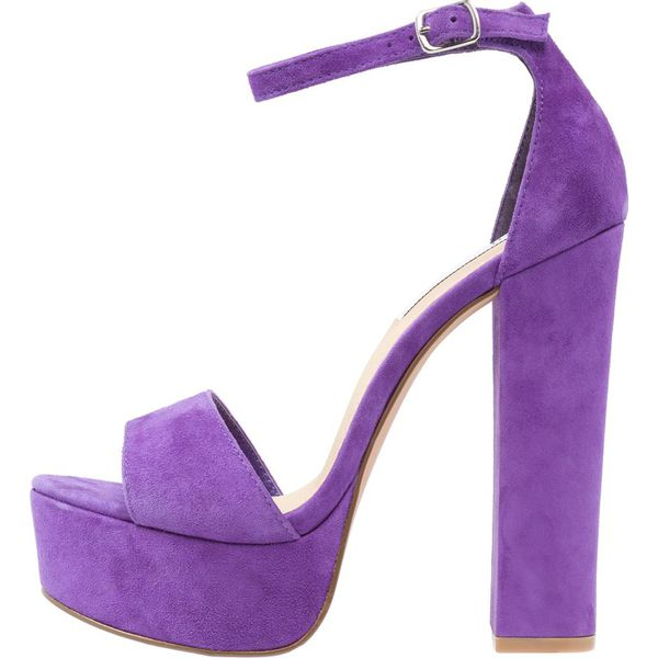 e46540d9fa1c6 Steve Madden GONZO Sandały na obcasie purple - Fioletowe sandały ...