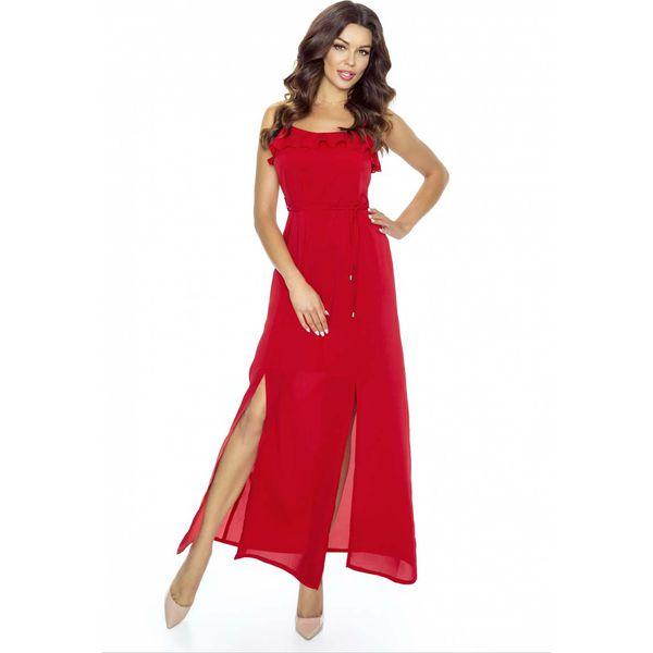 6173ee8191 Czerwona Sukienka Długa Wieczorowa na Ramiączkach - Czerwone ...
