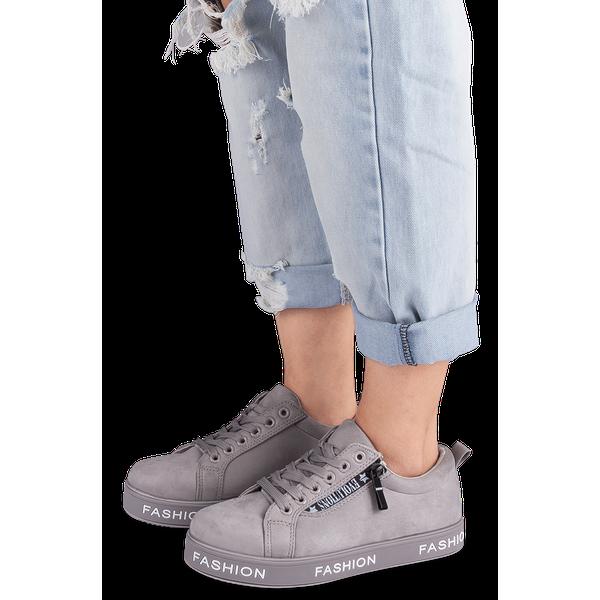 Buty sportowe damskie Ideal Shoes X 9711 Szare