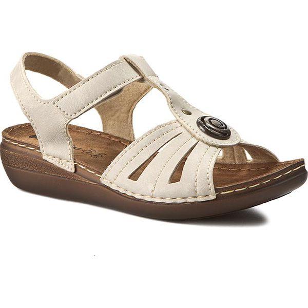 38c5c1bcd Sandały INBLU - CX116J15 Beżowy - Brązowe sandały damskie marki ...