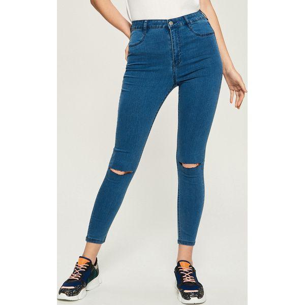 db8c259780d44c Jeansy skinny z wysokim stanem - Niebieski - Niebieskie jeansy ...
