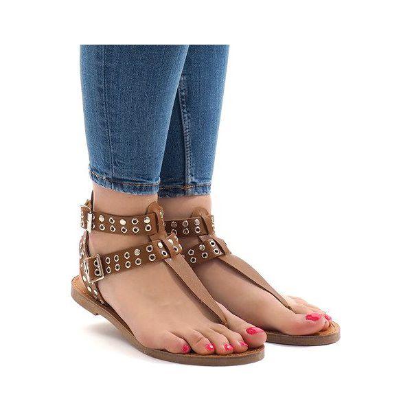 Sandały damskie Butymodne na płaskiej podeszwie bez wzorów