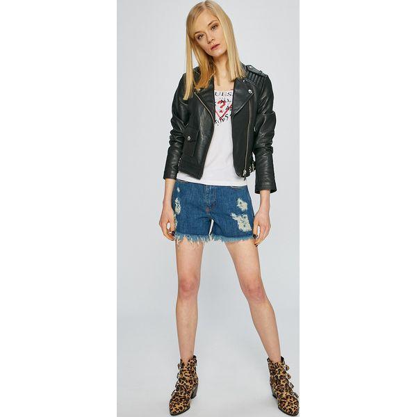 e46a536b5f5cf Guess Jeans - Kurtka skórzana - Kurtki damskie marki Guess Jeans. W ...