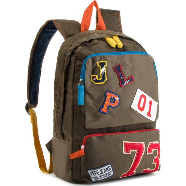 3f4f4ee72b54b Plecak PEPE JEANS - Patches Backpack PB030193 Otter Green 751 ...