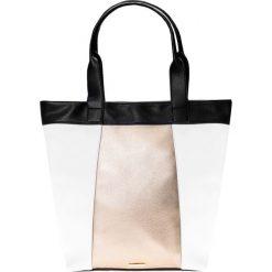 14379ffbb2268 Duża torebka shopper z dodatkiem złotego QUIOSQUE. Shopperki damskie marki  QUIOSQUE. W wyprzedaży za
