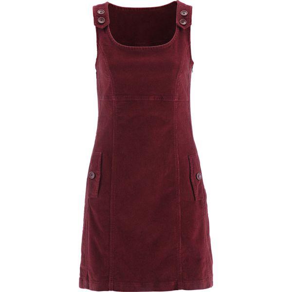 9d9bf50e93 Sukienka sztruksowa bonprix bordowy - Czerwone sukienki damskie ...