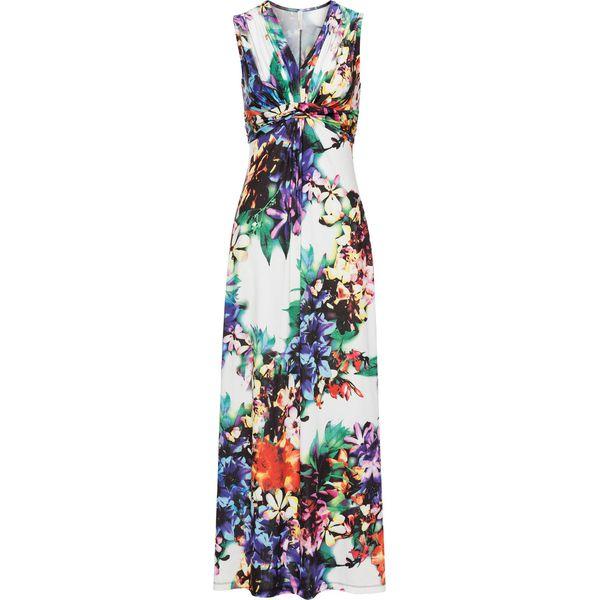56a2900074 Sukienka letnia bonprix biały w kwiaty - Białe sukienki damskie ...