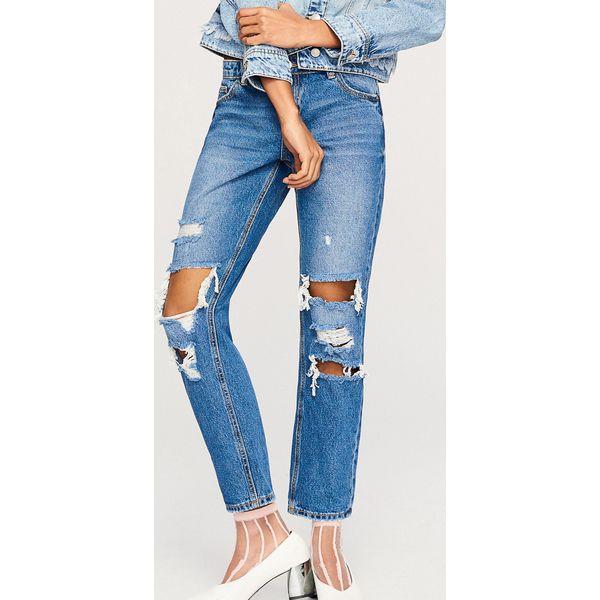 cd259a6b586338 Jeansy z dziurami na nogawkach - Granatowy - Niebieskie jeansy ...