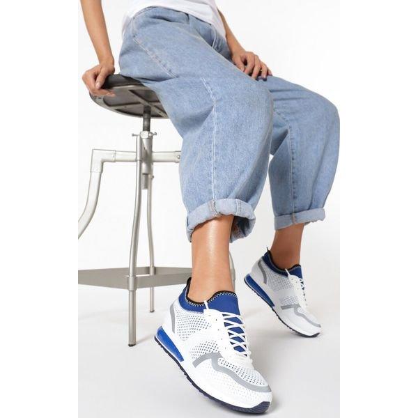 Biało Niebieskie Buty Sportowe Aroacea
