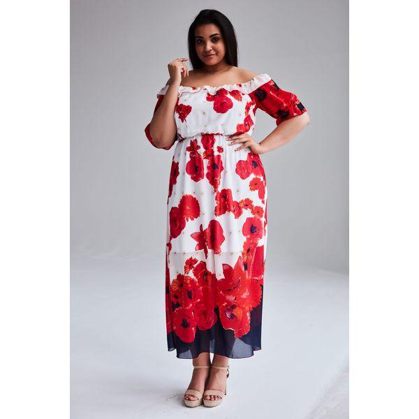 d1bf252c Szyfonowa sukienka Alina MAXI duże rozmiary OVERSIZE PLUS SIZE