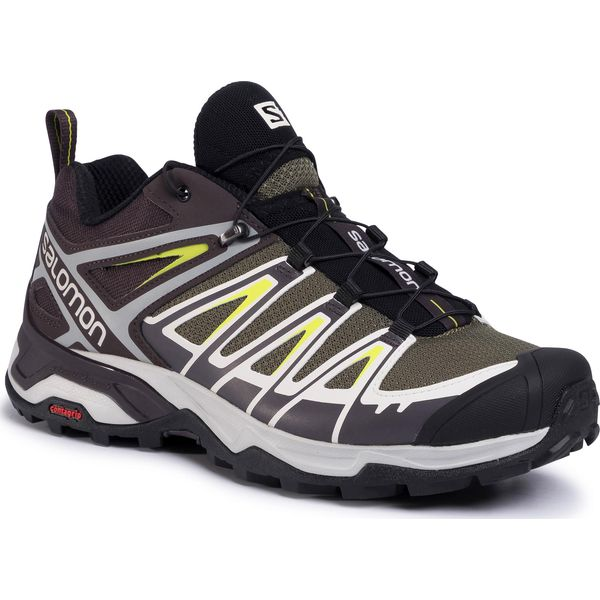 Trekkingi SALOMON X Ultra 3 GORE TEX 408143 27 M0 Burnt OliveShaleAcid Lemon