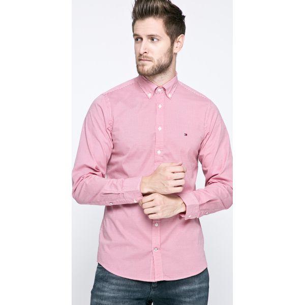 e960b51763e9 Tommy Hilfiger - Koszula - Różowe koszule męskie marki Tommy ...