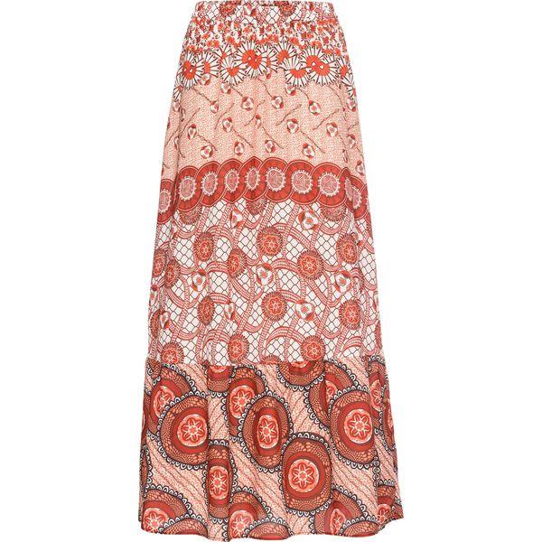 0945c44a Długa spódnica z nadrukiem: MUST HAVE bonprix ceglastoczerwony wzorzysty