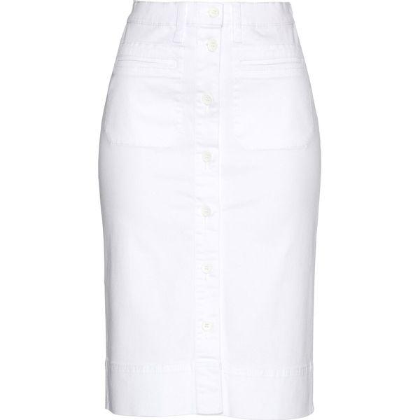 db223ed5 Spódnica dżinsowa z guzikami bonprix biały
