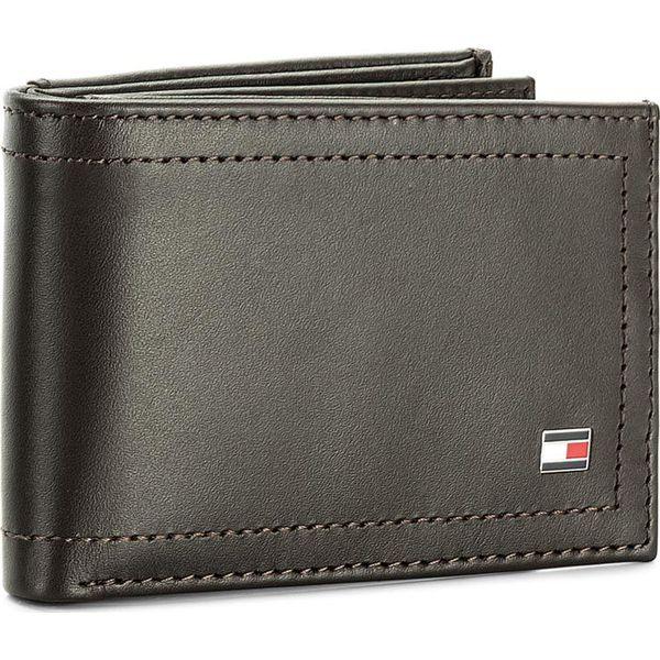 33d6a6a51453a Duży Portfel Męski TOMMY HILFIGER - Harry Mini Cc Flap And Coin Pocket  AM0AM01257 244 - Brązowe portfele męskie marki Tommy Hilfiger.