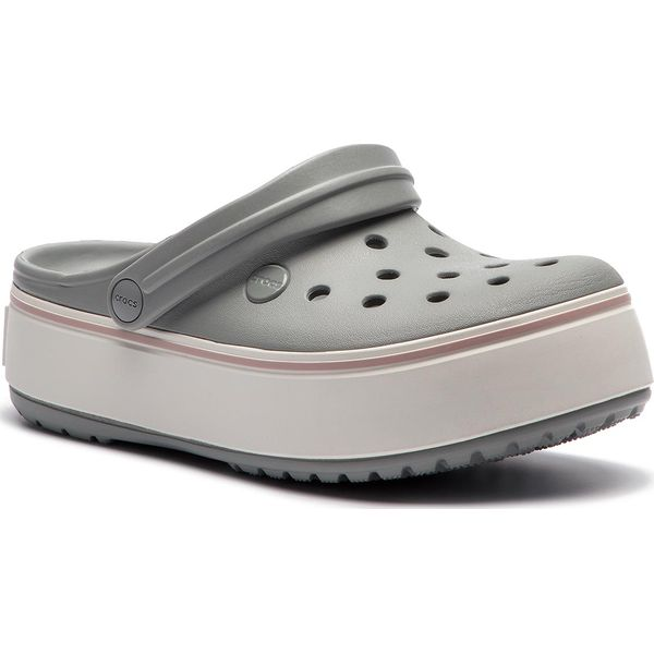4509976a04572 Klapki CROCS - Crocband Platform Clog 205434 Light Grey/Rose - Sklep ...