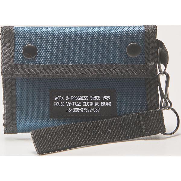 db17cd04e710 Materiałowy portfel z brelokiem - Niebieski - Portfele męskie marki ...