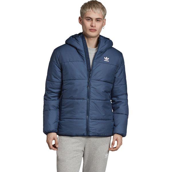 Kurtka sportowa niebieska Adidas bez wzorów