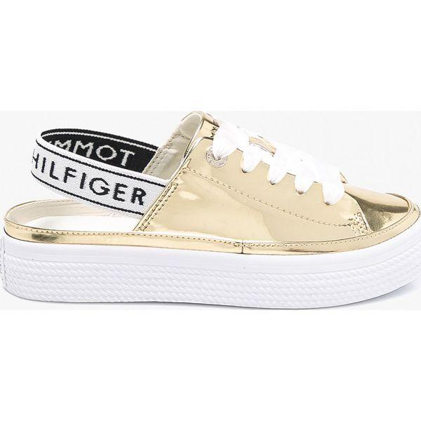 719e9b9b25d32 Tommy Hilfiger - Buty Mirror Metal Sling - Szare obuwie sportowe ...