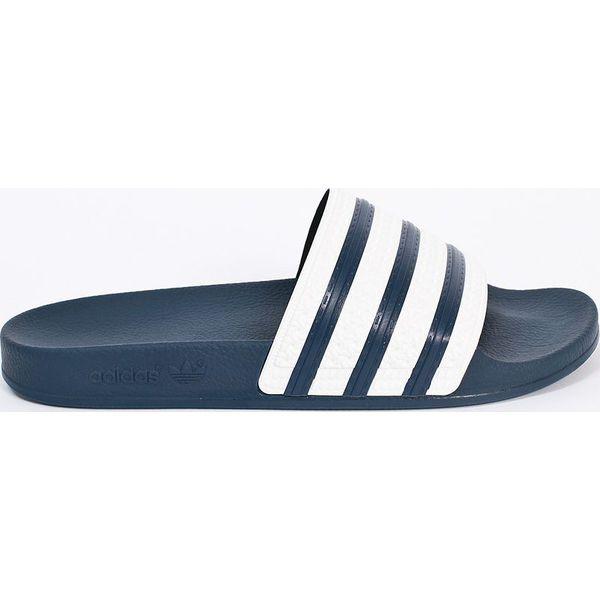 245fe25cdbe079 adidas Originals - Klapki - Niebieskie klapki męskie adidas ...