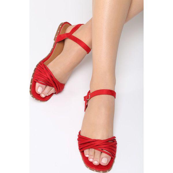 d5a3ea5e0069f Czerwone Sandały Morning Glory - Czerwone sandały damskie Born2be, z ...