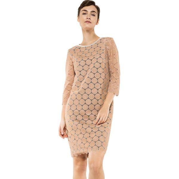 8110a5cd7b Sukienka w kolorze beżowym - Brązowe sukienki damskie marki Deni ...