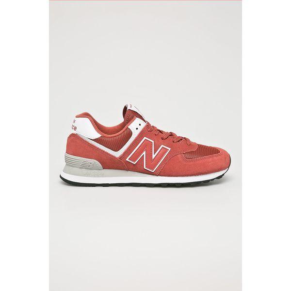706ba28763b1d7 New Balance - Buty ML574ESL - Czerwone buty sportowe męskie marki ...