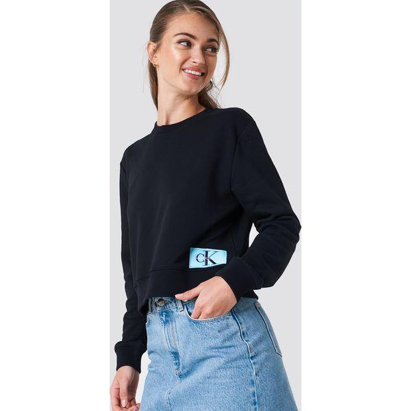 a23c91e277ecb Calvin Klein Bluza Monogram Logo Badge - Black - Bluzy damskie marki ...