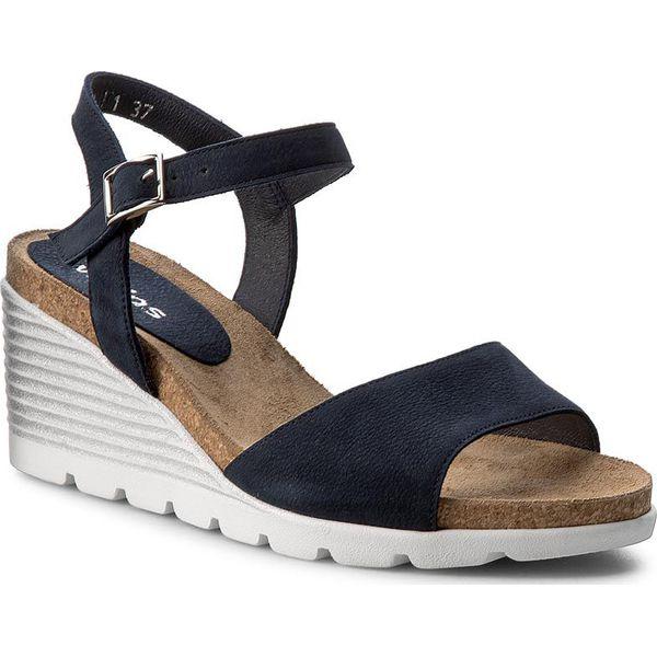 3222410412c57 Sandały WOJAS - 7783-26 Granatowy - Niebieskie sandały damskie marki ...