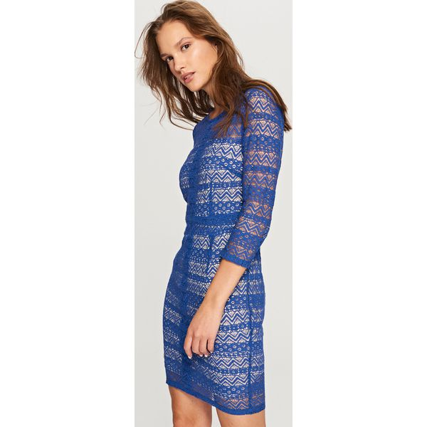 c5fcae20ca Koronkowa sukienka - Wielobarwn - Szare sukienki damskie marki ...