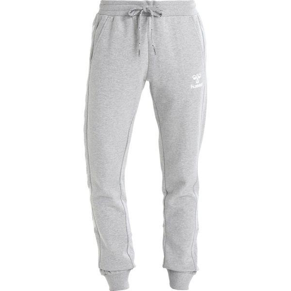 8780d1627 Hummel HMLLEISURELY PANTS Spodnie treningowe grey melange - Szare spodnie  dresowe damskie Hummel, z bawełny, sportowe, długie. Za 169.00 zł.