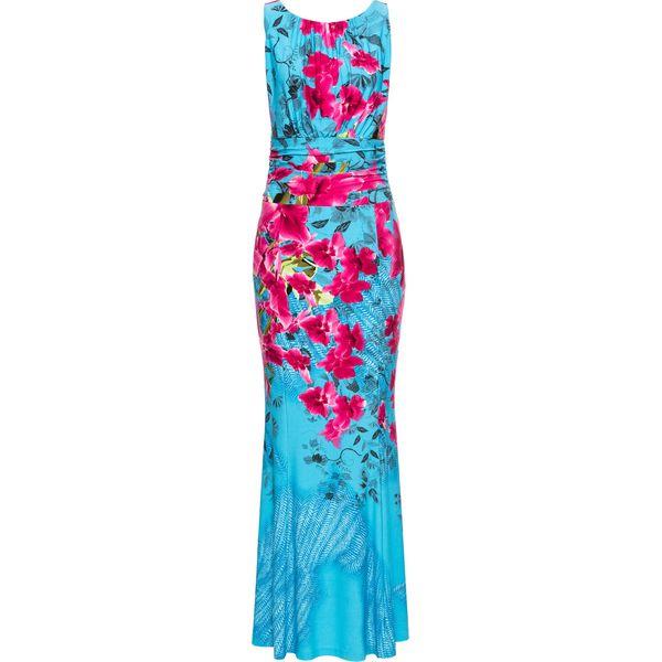 cae2a0f12c Sukienka w kwiatowy deseń bonprix niebieski w kwiaty - Niebieskie ...