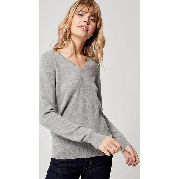 201cc6d5 Kaszmirowy sweter w kolorze szarym