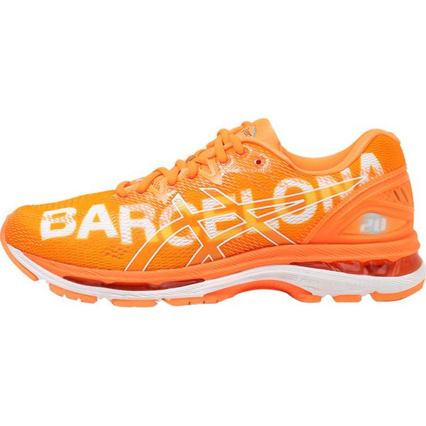 newest f659f ec94f ASICS GELNIMBUS 20 BARCELONA MARATHON Obuwie do biegania treningowe orange  - Brązowe buty sportowe męskie marki Asics, z materiału, do biegania, Nike  Roshe.